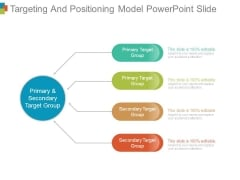 Targeting And Positioning Model Powerpoint Slide