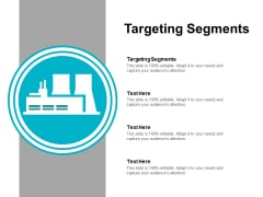 Targeting Segments Ppt PowerPoint Presentation Ideas Infographics Cpb