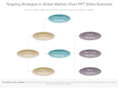 Targeting Strategies In Global Markets Chart Ppt Slides Examples