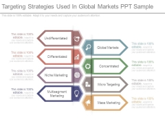 Targeting Strategies Used In Global Markets Ppt Sample