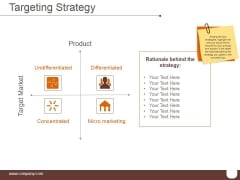 Targeting Strategy Ppt PowerPoint Presentation Deck