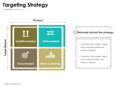Targeting Strategy Ppt PowerPoint Presentation Infographics Shapes