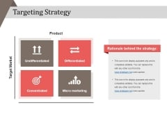 Targeting Strategy Ppt PowerPoint Presentation Model Backgrounds