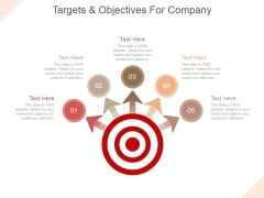 Targets And Objectives For Company Ppt PowerPoint Presentation Professional