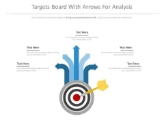 Targets Board With Arrows For Analysis Powerpoint Slides