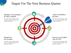 Targets For The Next Business Quarter Ppt PowerPoint Presentation Infographics Inspiration
