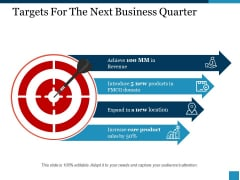 Targets For The Next Business Quarter Ppt PowerPoint Presentation Layouts Objects