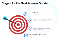 Targets For The Next Business Quarter Ppt PowerPoint Presentation Styles Gallery