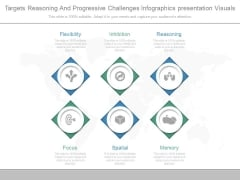 Targets Reasoning And Progressive Challenges Infographics Presentation Visuals