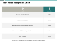 Task Based Recognition Chart Ppt PowerPoint Presentation Infographics Pictures