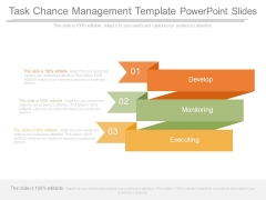 Task Chance Management Template Powerpoint Slides