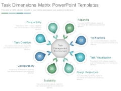 Task Dimensions Matrix Powerpoint Templates
