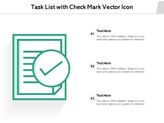 Task List With Check Mark Vector Icon Ppt PowerPoint Presentation File Professional PDF
