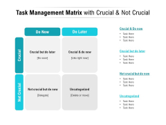 Task Management Matrix With Crucial And Not Crucial Ppt PowerPoint Presentation Infographics Background Image