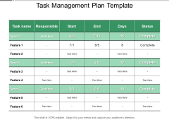 Task Management Plan Template Ppt PowerPoint Presentation Professional Example File