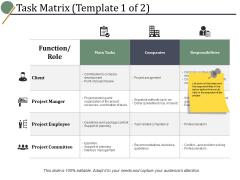 Task Matrix Client Ppt PowerPoint Presentation Slides Portrait