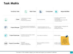 Task Matrix Marketing Ppt PowerPoint Presentation Infographic Template Design Inspiration
