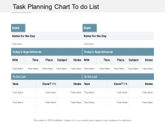 Task Planning Chart To Do List Ppt PowerPoint Presentation Infographics Picture Cpb