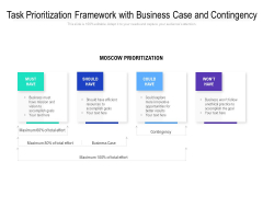 Task Prioritization Framework With Business Case And Contingency Ppt PowerPoint Presentation File Gridlines PDF