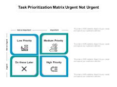 Task Prioritization Matrix Urgent Not Urgent Ppt PowerPoint Presentation File Inspiration PDF