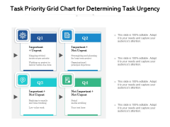 Task Priority Grid Chart For Determining Task Urgency Ppt PowerPoint Presentation File Icons PDF