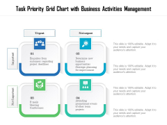 Task Priority Grid Chart With Business Activities Management Ppt PowerPoint Presentation File Format PDF