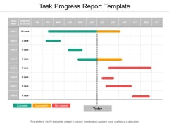 Task Progress Report Template Ppt PowerPoint Presentation Styles Objects