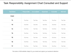 Task Responsibility Assignment Chart Consulted And Support Ppt Powerpoint Presentation Styles Background