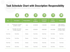 Task Schedule Chart With Description Responsibility Ppt PowerPoint Presentation Summary Professional