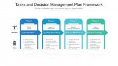 Tasks And Decision Management Plan Framework Ppt File Themes PDF