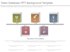 Tasks Database Ppt Background Template