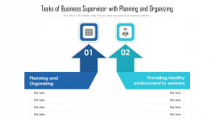 Tasks Of Business Supervisor With Planning And Organizing Ppt Styles PDF