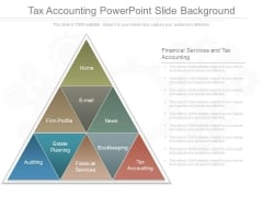Tax Accounting Powerpoint Slide Background