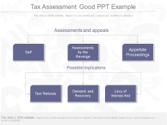 Tax Assessment Good Ppt Example