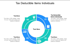 Tax Deductible Items Individuals Ppt PowerPoint Presentation Infographic Template Example Cpb Pdf