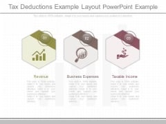 Tax Deductions Example Layout Powerpoint Example