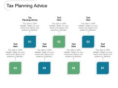 Tax Planning Advice Ppt PowerPoint Presentation Gallery Sample Cpb Pdf