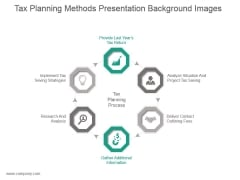Tax Planning Methods Presentation Background Images