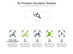 Tax Provision Calculation Template Ppt PowerPoint Presentation Inspiration Vector Cpb Pdf