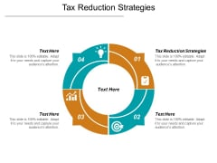 Tax Reduction Strategies Ppt PowerPoint Presentation Professional Format Cpb