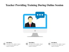 Teacher Providing Training During Online Session Ppt PowerPoint Presentation Gallery Themes PDF