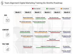 Team Alignment Digital Marketing Training Six Months Roadmap Portrait