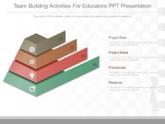 Team Building Activities For Educators Ppt Presentation