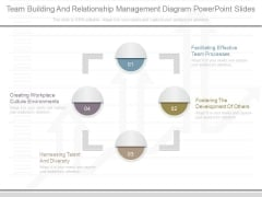 Team Building And Relationship Management Diagram Powerpoint Slides