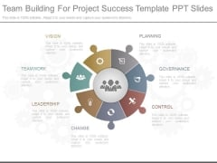 Team Building For Project Success Template Ppt Slides