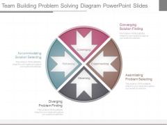 Team Building Problem Solving Diagram Powerpoint Slides