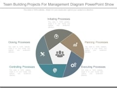 Team Building Projects For Management Diagram Powerpoint Show