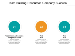 Team Building Resources Company Success Ppt PowerPoint Presentation Ideas Skills Cpb