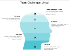 Team Challenges Virtual Ppt PowerPoint Presentation File Elements Cpb