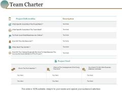 Team Charter Business Management Marketing Ppt PowerPoint Presentation Slides Visual Aids